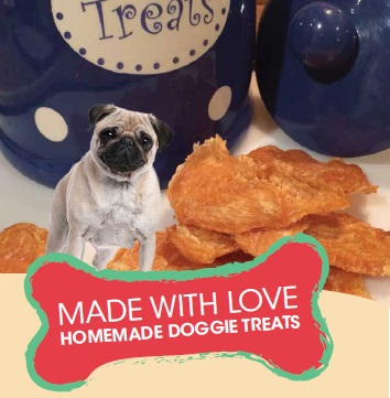 Made with love dog treats